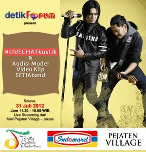 Charly #LIVECHATkustik di detikForum Sambil Audisi Model Video Klip