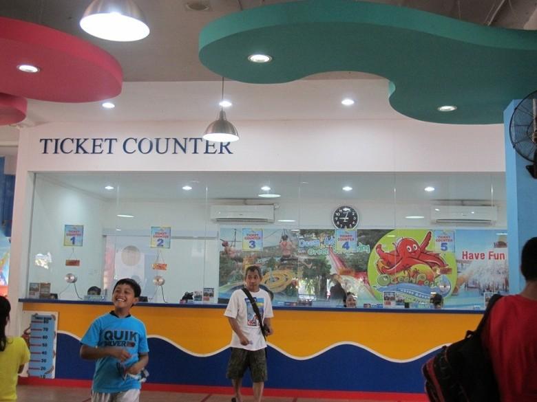 Ticket Counter di Ocean Park BSD (Sastri/ detikTravel)