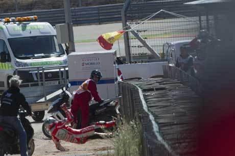 Kecelakaan di Aragon, Kondisi Hayden Baik