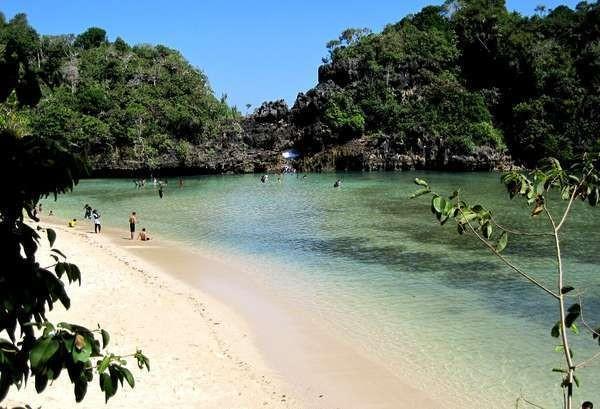 Pantai Segara Anakan dari atas bukit (Shafa/detikTravel)