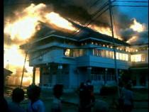 Kantor Dinas PU Kutai Kartanegara Hangus Terbakar