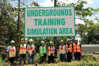 Daerah simulasi tambang bawah tanah, tim #dreamdestinationpapua nampang dulu! :D