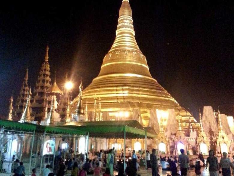 Pagoda Shwedagon adalah ikon Yangon dan Myanmar (Kris/detikTravel)