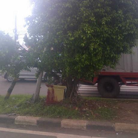 Kecelakaan Motor di Kalimalang, Faisal Nyangkut di Pohon Beringin
