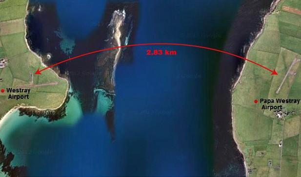 Rute penerbangan terpendek di dunia, 2,8 km dalam waktu 47 detik (Google Maps/ News Australia)