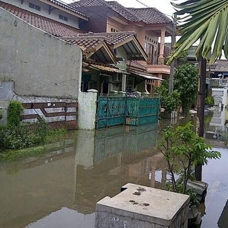 Harapan Indah Bekasi Banjir, Aktivitas Warga Terganggu
