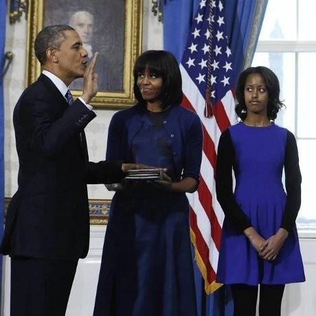 Berpidato Jelang Pelantikan, Obama Puji Poni Baru Michelle