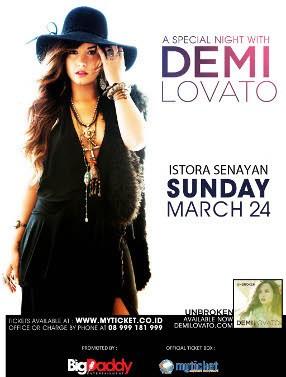 Demi Lovato Konser di Jakarta 24 Maret