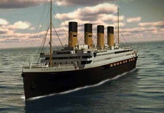 Gambar rancangan Titanic II (Blue Star Line/Guardian)