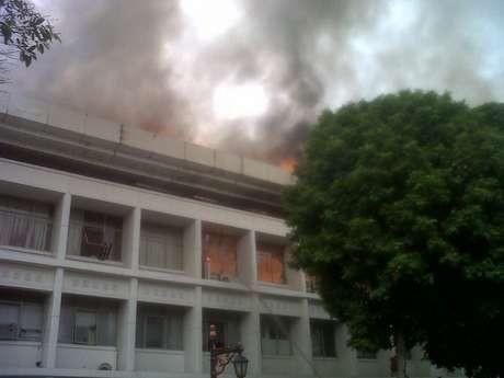 Lantai 3 Gedung Setneg Habis Terbakar