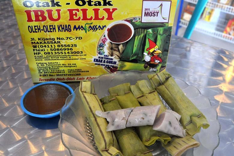Otak-otak Ibu Elly, camilan yang wajib dicoba di Makassar (MN Abdurrahman/detikTravel)
