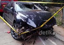 Kecelakaan, Camry Berisikan 6 Paket Sabu Ringsek
