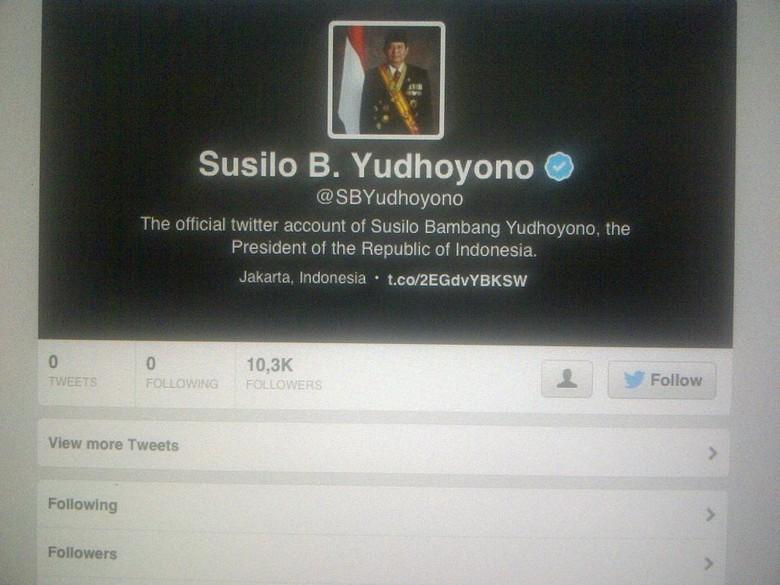 Nama Akun Presiden SBY di Twitter @SBYudhoyono