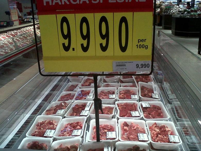 Harga Daging Sapi di Carrefour Masih di Atas Rp 90.000/Kg