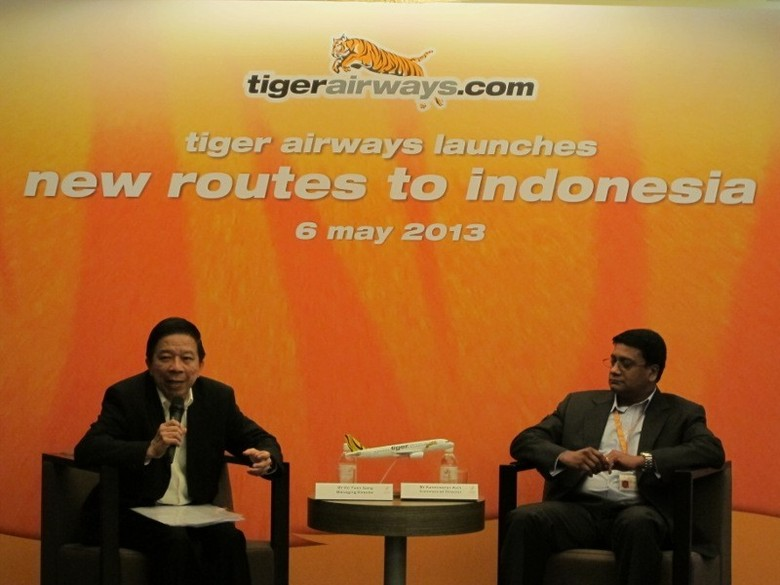 Suasana jumpa pers Tiger Airways Launches New Route to Indonesia (Afif/detikTravel)
