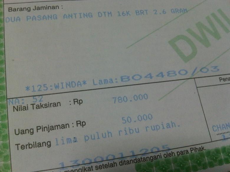 Pinjam Uang Rp 50.000 di Pegadaian Tetap Dilayani