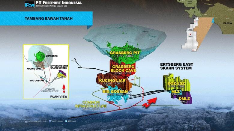 Ini Kronologi Insiden Runtuhnya Tambang Bawah Tanah Freeport Papua