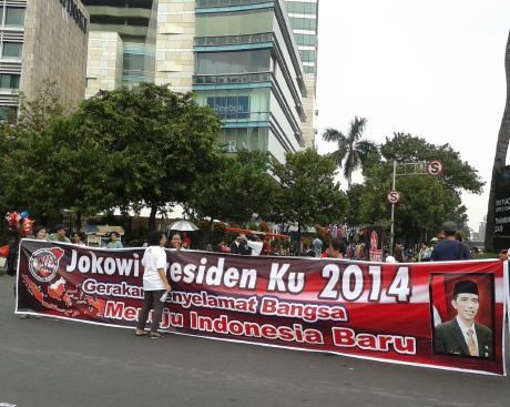 Massa \Jokowi Presidenku 2014\ Aksi di Bundaran HI