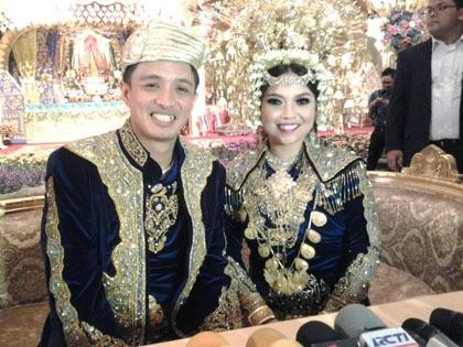 Eza Yayang Lega Usai Resepsi Pernikahan