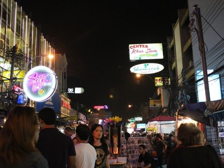 Khaosan, kawasan rawan kejahatan di Bangkok Thailand (Asti/detikTravel)