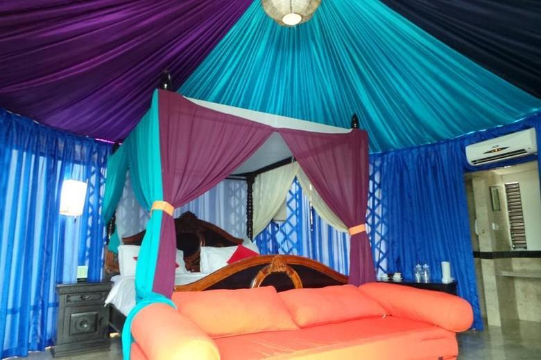 Tenda mewah bergaya Mongol di The Highland Park Resort (Fitraya/detikTravel)