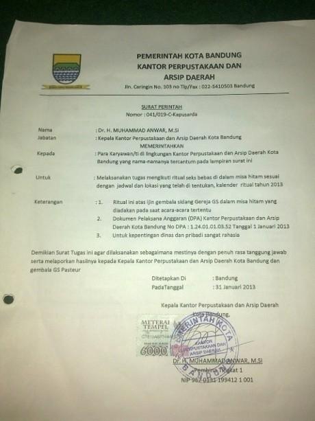 Surat Perintah Seks Bebas, Polisi Lakukan Uji Labfor