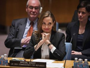 Penampilan Angelina Jolie di Gedung PBB