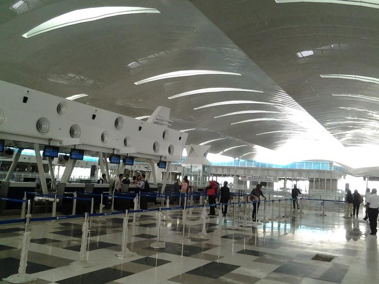 Area check-in counter di bandara Kualanamu, tercanggih se-Indonesia (Khairul/detikTravel)
