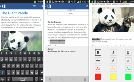 Tampilan Microsoft Word di Office Mobile Android (microsoft)