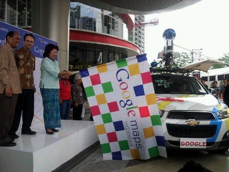 Mobil Google Street saat dilepas di Indonesia (detikINET)