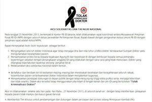 Solidaritas dr Ayu, Besok Dokter-dokter Hanya Layani UGD dan Pasien Miskin