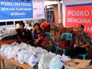 BNI Bantu Korban Banjir Manado