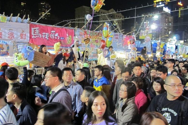 Suasana yang ramai dan penuh sesak di Victoria Park (Afif/detikTravel)