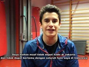 Marquez Minta Maaf pada Fans di Indonesia