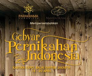 Pameran Pernikahan Khusus Budaya Indonesia Digelar di Balai Kartini