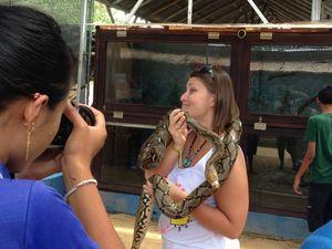 Ekspresi Gemas Bule Cantik Main Bareng Hewan di Bali