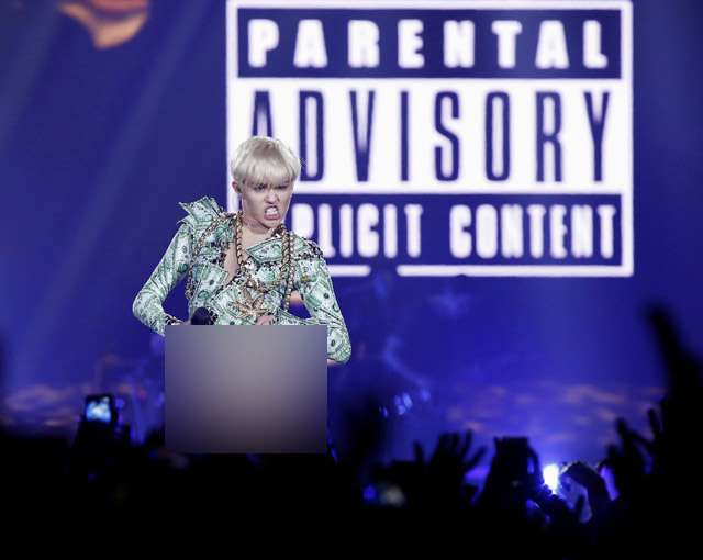 Kegilaan Miley Cyrus di Panggung London