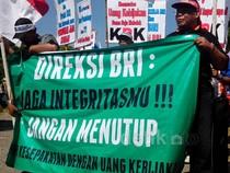 Pensiunan BRI Demo di Yogyakarta