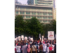 Puasa Pertama, Pendukung Prabowo-Hatta Lakukan Pawai Ramadan di Bundaran HI