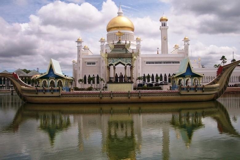 Masjid Omar Ali Saifuddin, ikon pariwisatanya Brunei Darussalam (Iqbal/detikTravel)