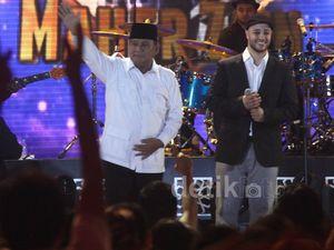 Prabowo dan Tokoh Parpol Hadiri Konser Maher Zain