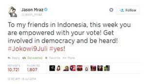 Sting, Jason Mraz, Arkarna, Metal Hammer Dukung Jokowi