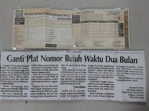 Harusnya STNK dan Pelat Nomor di Luar Jakarta Juga Sudah Normal