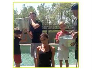 Ini Ekspresi Victoria Beckham Ketika Diguyur Es dengan Suaminya