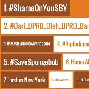 Tembus 250 Ribu Tweet, Hashtag #ShameOnYouSBY Menghilang