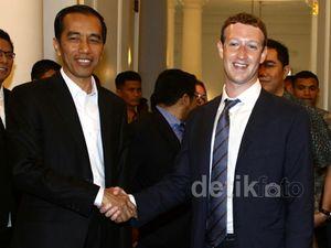 Mark Zuckerberg Sambangi Jokowi