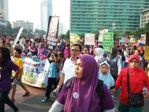 Kampanye Stop Kekerasan Anak, Ratusan Anak Berdemo di Bundaran HI