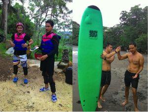 Seru! Body Rafting dan Surfing di Pangandaran
