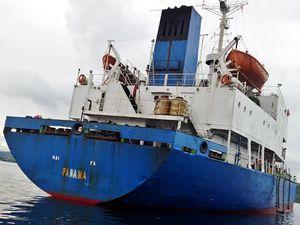 Penampakan Kapal Pencuri Ikan Terbesar Sepanjang Sejarah RI