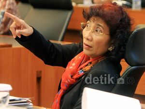 Di Depan DPR Menteri Susi Akan Konsisten Tangkap Kapal Ilegal